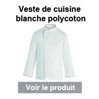 veste cuisine blanche polycoton