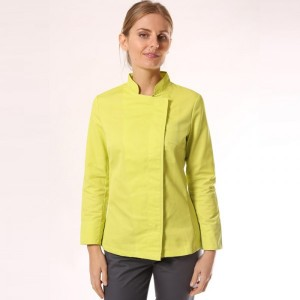 veste-de-cuisine-femme-vert-anis
